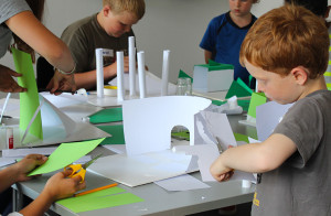 Kids model-making workshop, RIBA, 5th August 2013